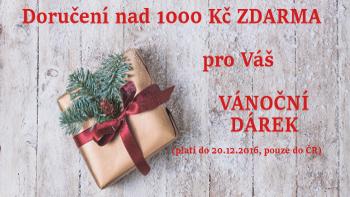 VÁNOČNÍ DOPRAVNÉ NAD 1000 KČ ZDARMA - PLATÍ PRO DORUČENÍ DO ČR
