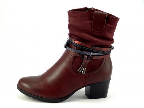 Wishot 955 bordó kotníková obuv