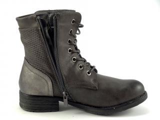 Wishot 914 šedá kotníková obuv