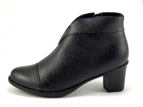 Wishot 941 černá kotníková obuv