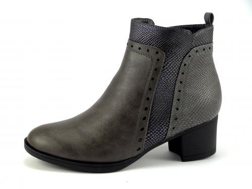 Wishot 932 šedá kotníková obuv