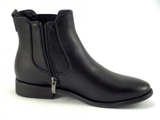 Wishot 988 černá kotníková obuv