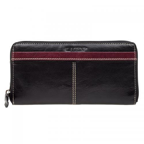 Lagen 26512 black + red  peněženka