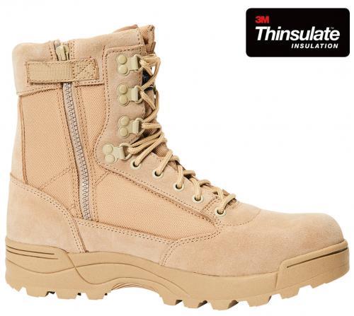Boty Brandit 9017 Tactical Boots Zipper - se zipem camel