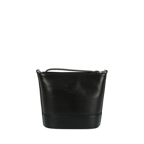 Vera Pelle kožená kabelka malá,černá