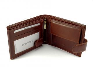Rovicky hnědá peněženka N992L