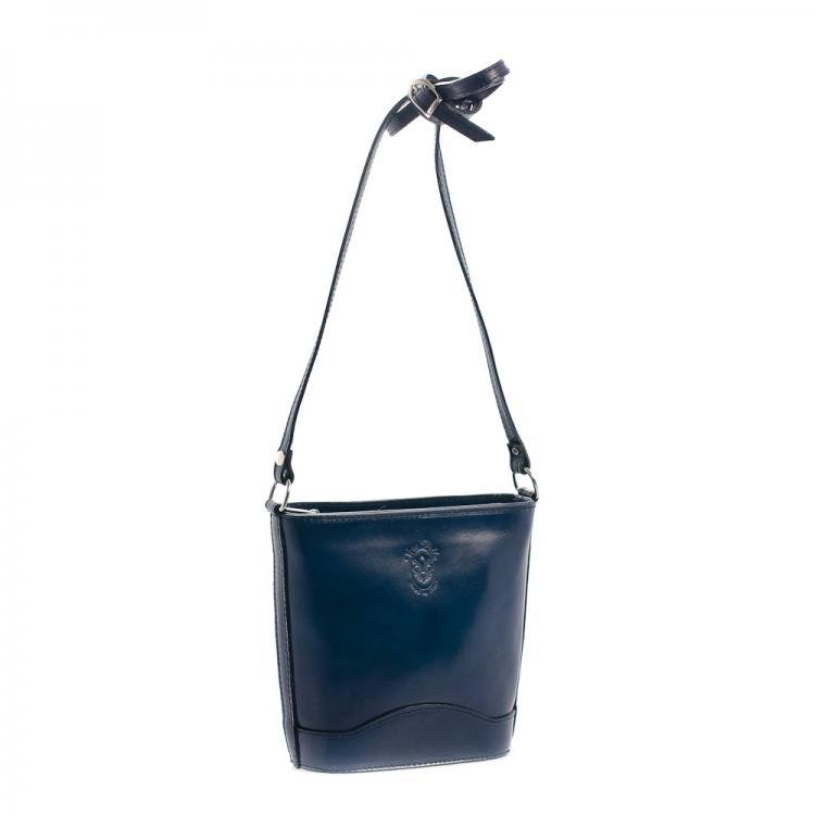 a0dd1cf5fa Vera Pelle kožená kabelka tmavě modr
