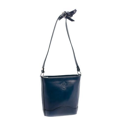 Vera Pelle kožená kabelka tmavě modr