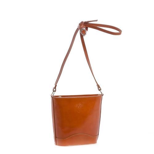 Vera Pelle 178 kožená kabelka hnědá