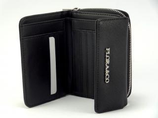 Flora peněženka noir T6011