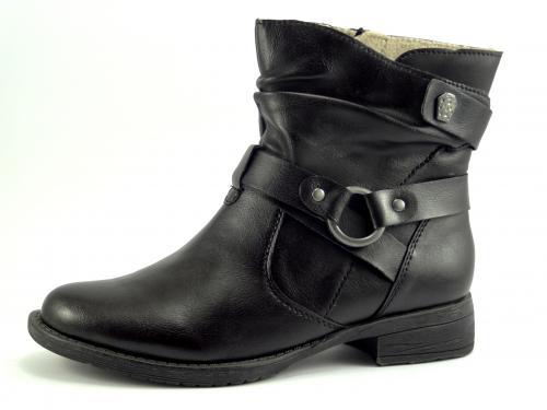 Jana obuv černá kotníková 25465
