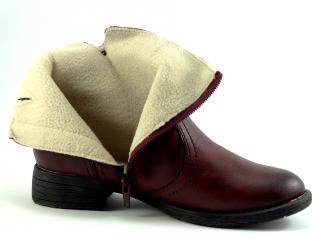 Jana obuv bordó kotníková 25467
