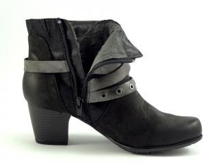 Jana obuv černá kotníková 25330