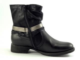 Jana obuv černá kotníková 25412