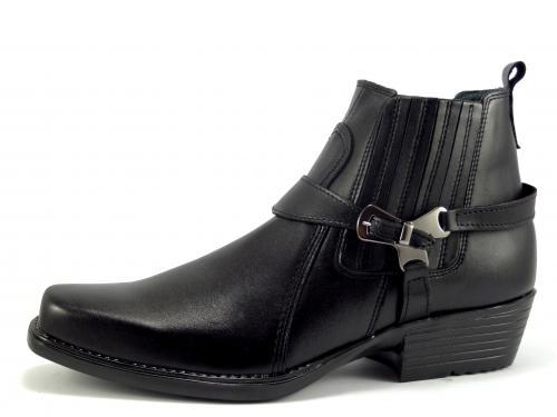 Selma westernové boty na motorku, na koně 412 black