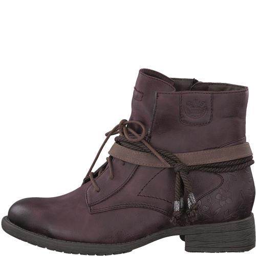 Jana obuv kotníková bordo 25208