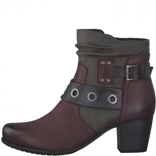 Jana obuv kotníková bordo 25330