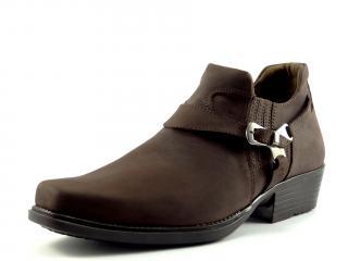 Selma westernové boty na motorku na koně nízká 1026 crazy horse brown