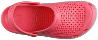 COQUI sandály růžové/šedé 6413
