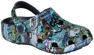 COQUI sandály modré s potiskem 8115