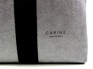 Kabelka Carine černá stříbrná 224
