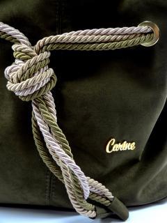 Kabelka Carine olivová eko nubuk 156