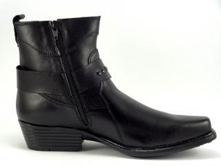 Selma westernové boty na motorku na koně 1025 black