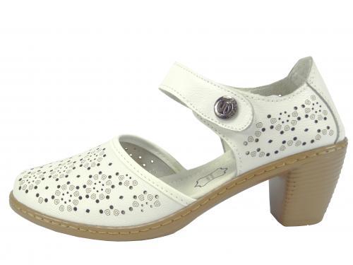 Letní obuv kožená bílá LR98519