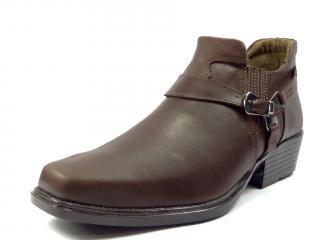 Selma westernové boty na motorku na koně nízká 1026 hladká hnědá