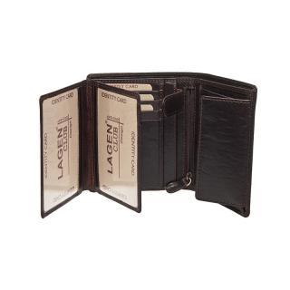 Lagen peněženka dark brown V28T