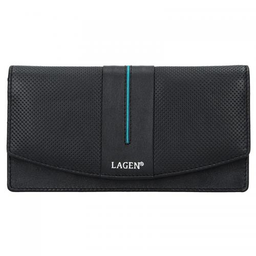 Lagen peněženka black petrol 4153