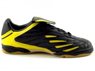 Sálová obuv černá, žlutá SOC 3862