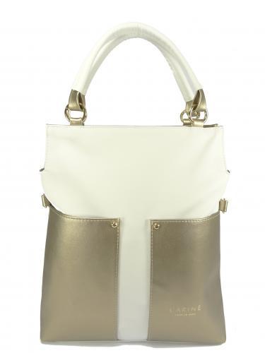 Carine kabelka bílá se zlatou 224