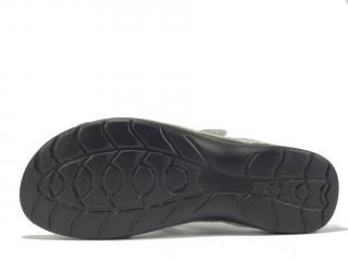 Pantofle kožené stříbrné LR 62184