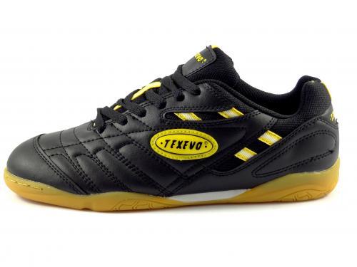 Sálová obuv černá, žlutá SOC 9009