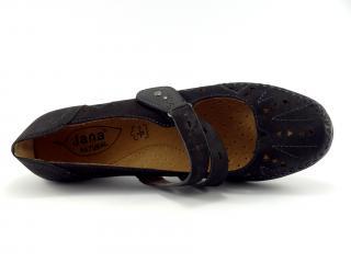 Jana 24323 polobotka s páskem, černá