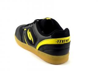 Sálová obuv Texevo černá, žlutý znak SOC 5323
