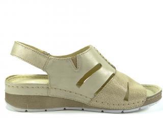 Sandál Helios zlatý 257