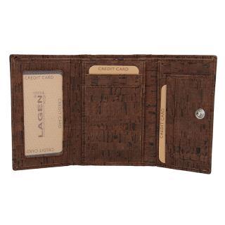 Lagen peněženka hnědá 50178