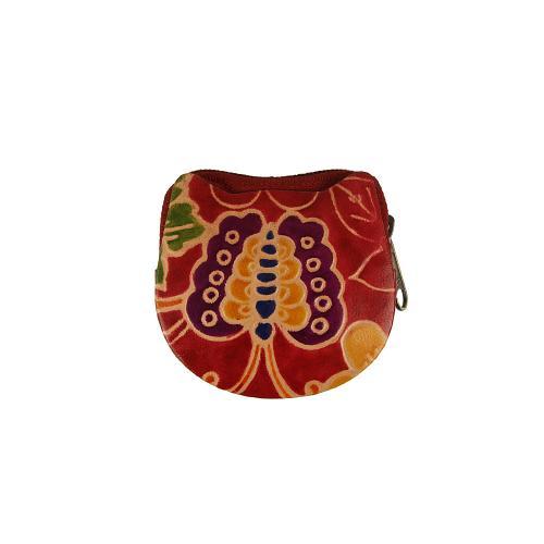 Klíčenka motiv květ červená