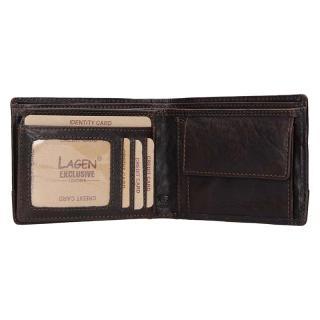 Lagen peněženka hnědá LG/6504/T