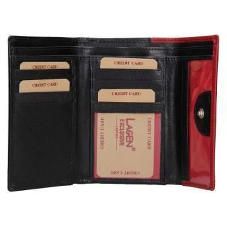 Lagen peněženka black/red 4390