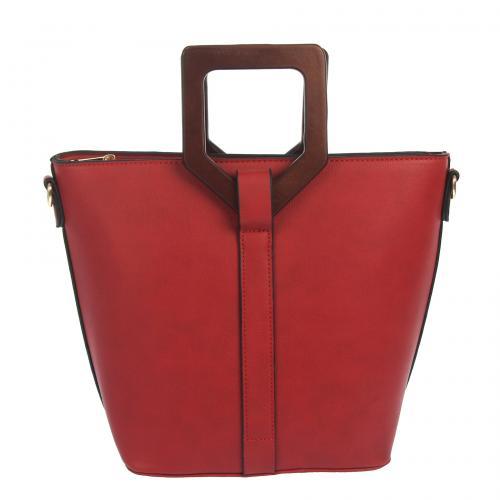 Kabelka Elegance červená EL898