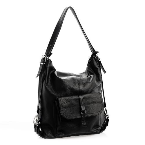 Kabelka i batoh černý S0080A kůže