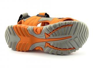 Head sandál s plnou špicí, oranž