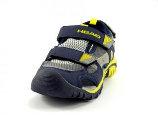 Head sandál s plnou špicí, modrý