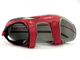 Head sandál s patou, červený