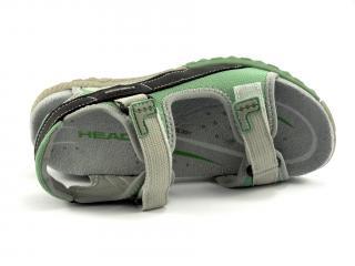 Head sandál zeleno-šedo-černý