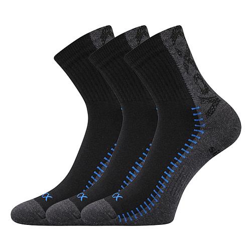 Voxx ponožky černé Revolt 3 páry