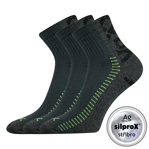 Voxx tmavě šedá ponožka Revolt 3 páry
